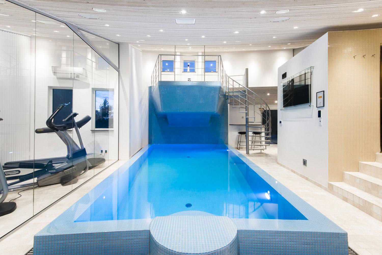 Luxe vakantie in denemarken huis met fitness wellness zwembad spa - Huis design met zwembad ...