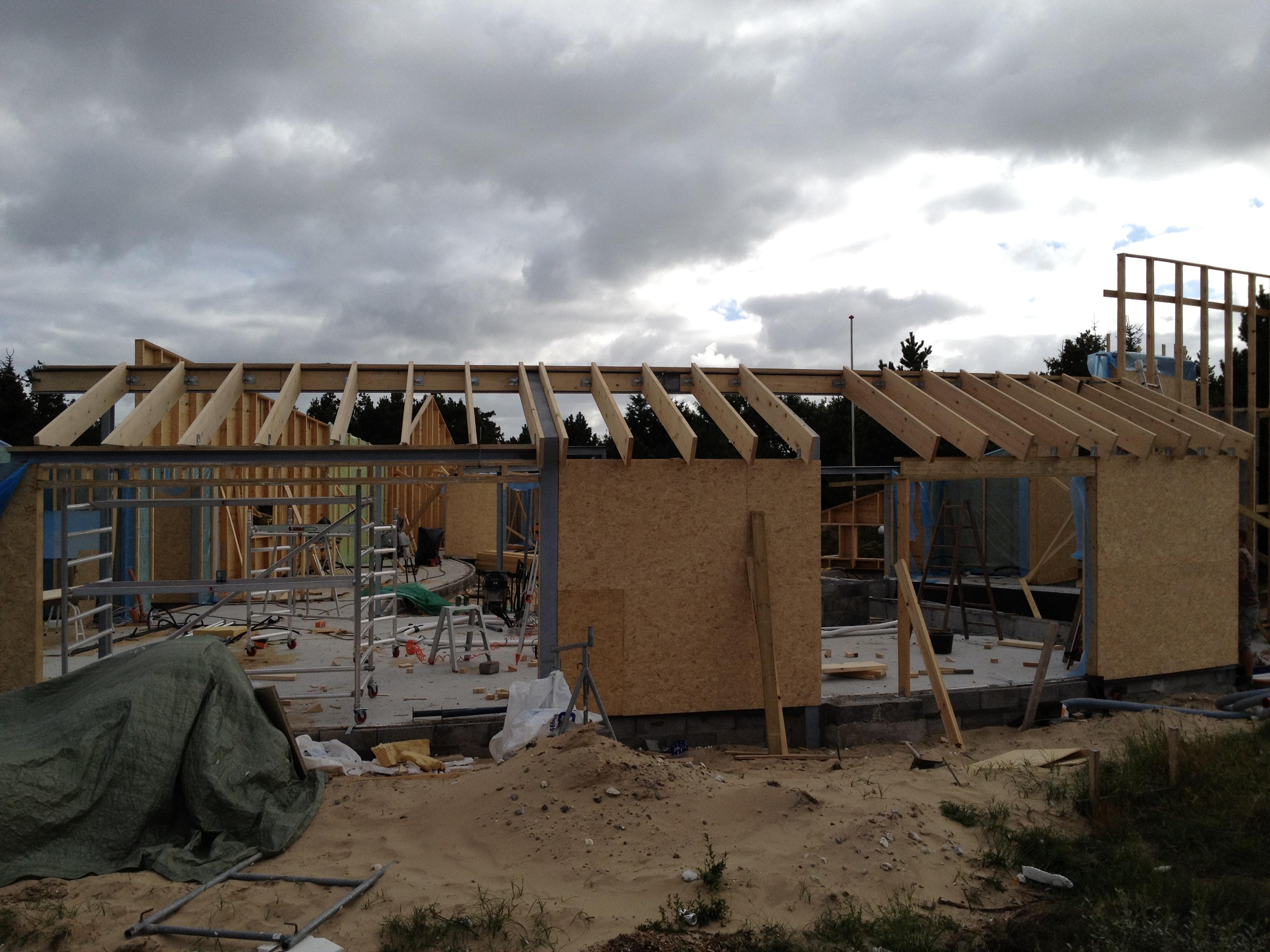 Nordkrogen 12   avanceret sommerhus konstruktion i blåvand